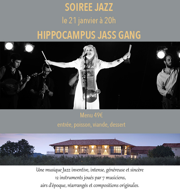 Live Music at Côté Mas with Hippocampus Jass Gang