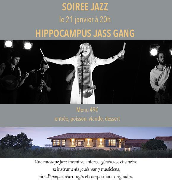 Live Music at Côté Mas with Hippocampus Jass Gang