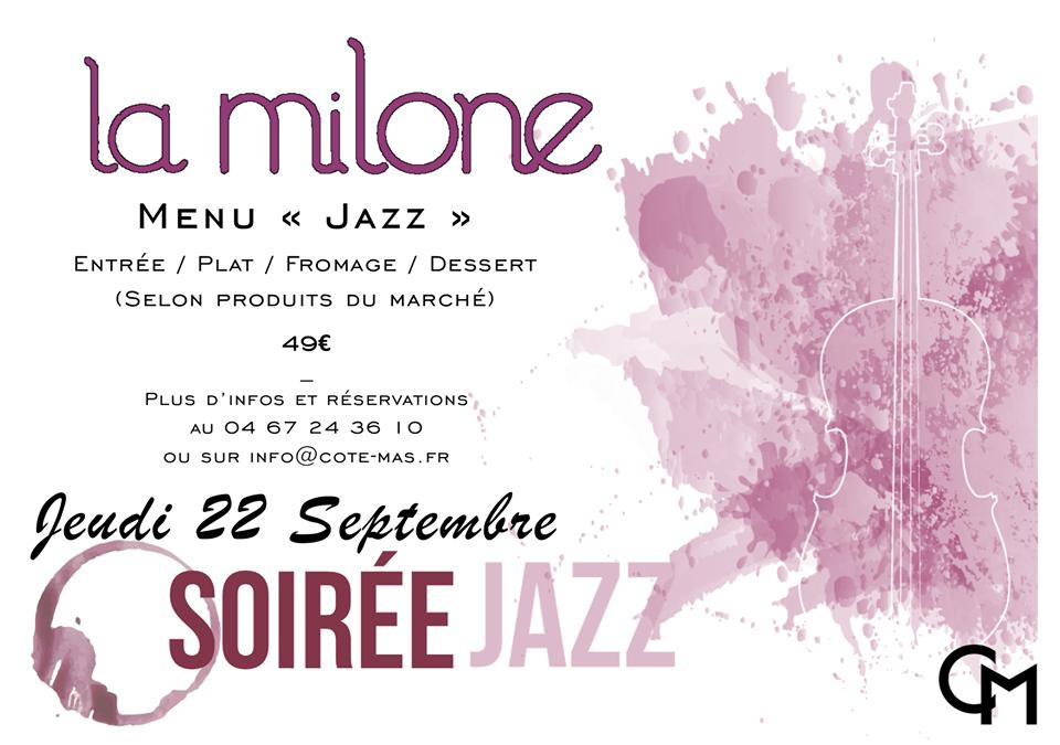 Soirée Jazz La Milone au restaurant