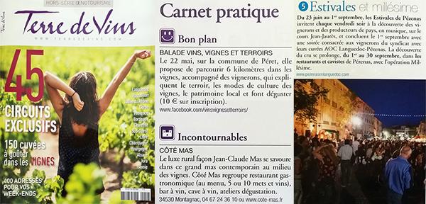 Terre de Vins spécial circuits touristiques et balades dans les vignes de Pézenas
