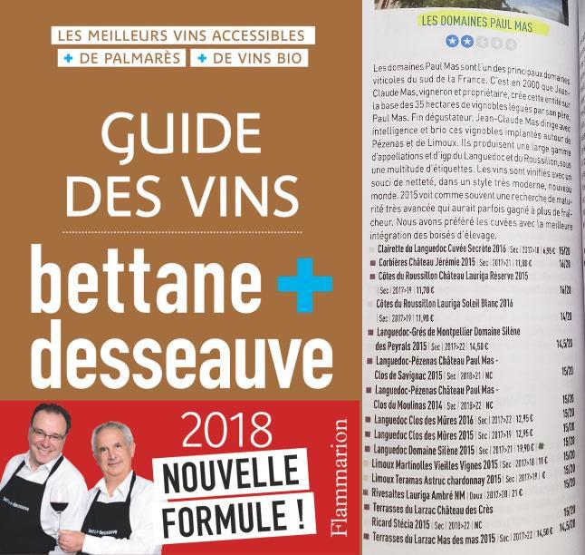 Sélection de Bettane et Desseauve 2018 à découvrir au caveau