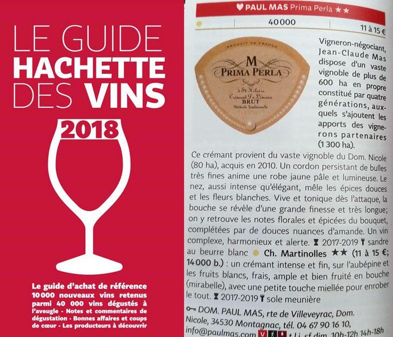 Guide Hachette Vins 2018 Les Vins des Domaines Paul Mas distingués