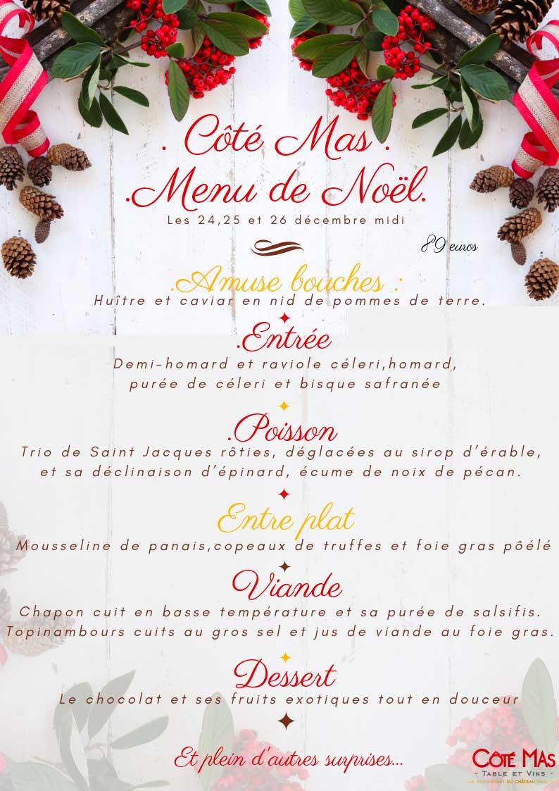 Decoration De Menu De Noel.Menu De Noel Cote Mas