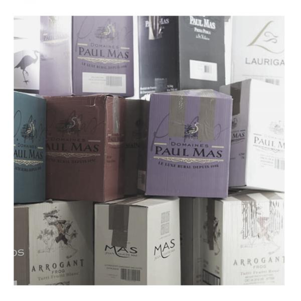 Cartons suprise bouteilles vin