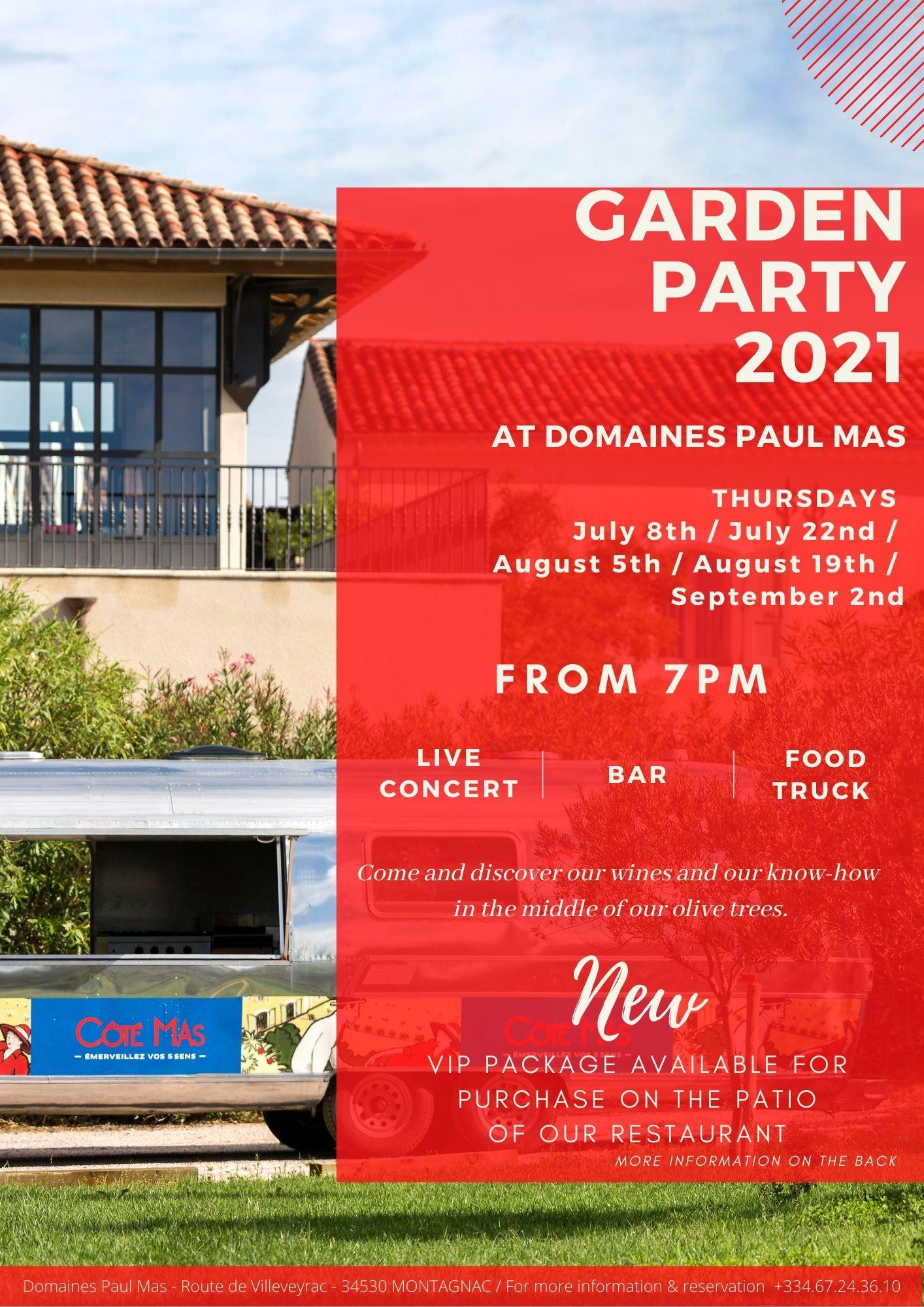 Flyer Garden Party Domaine Paul Mas