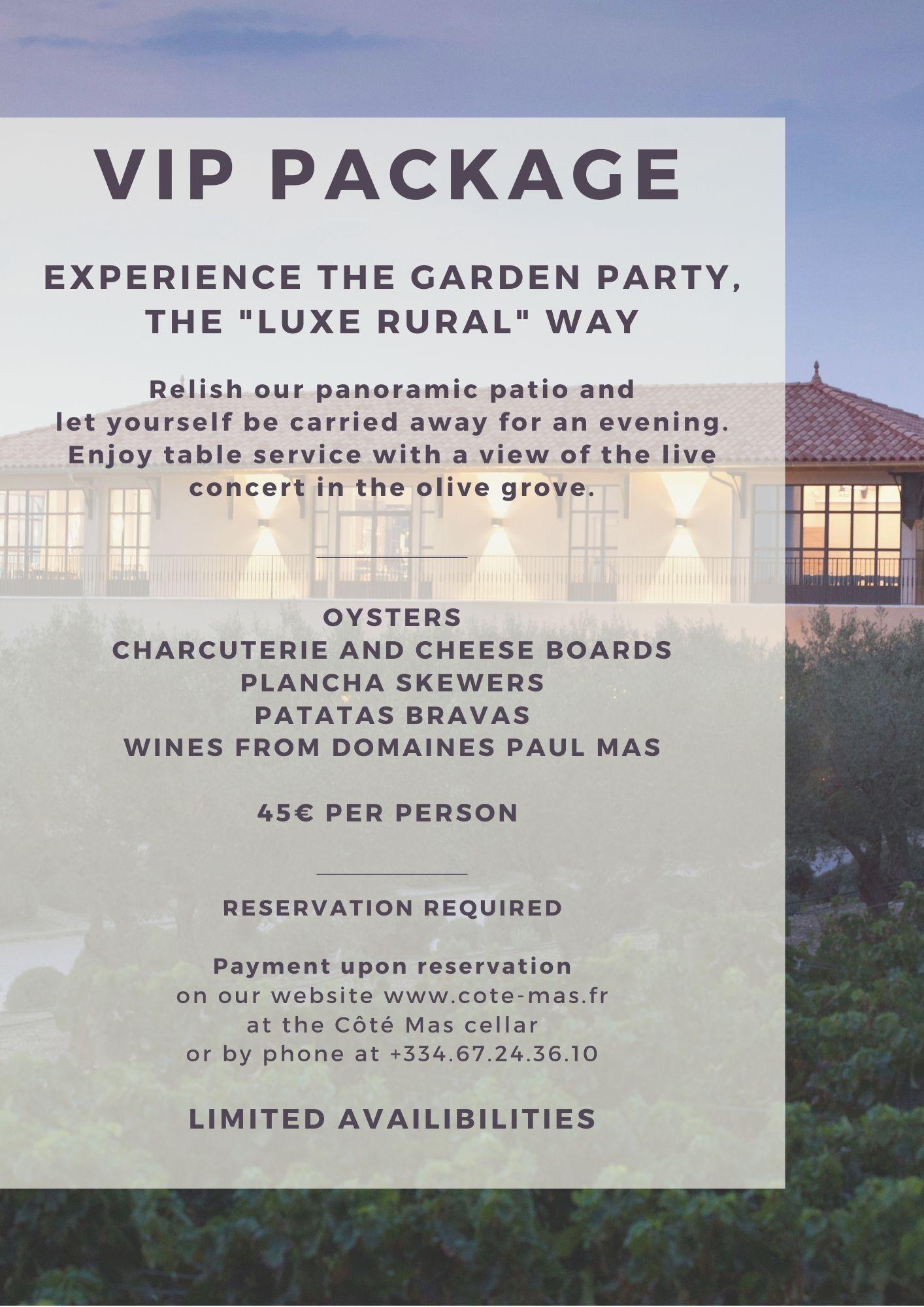 English VIP Flyer Garden Party